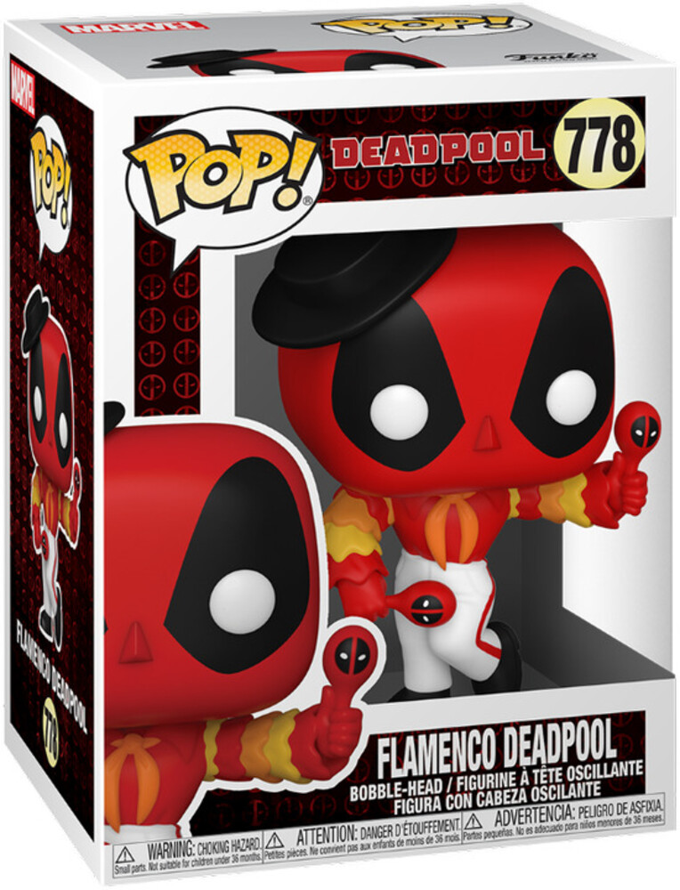 - FUNKO POP! MARVEL: Deadpool 30th- Flamenco Deadpool