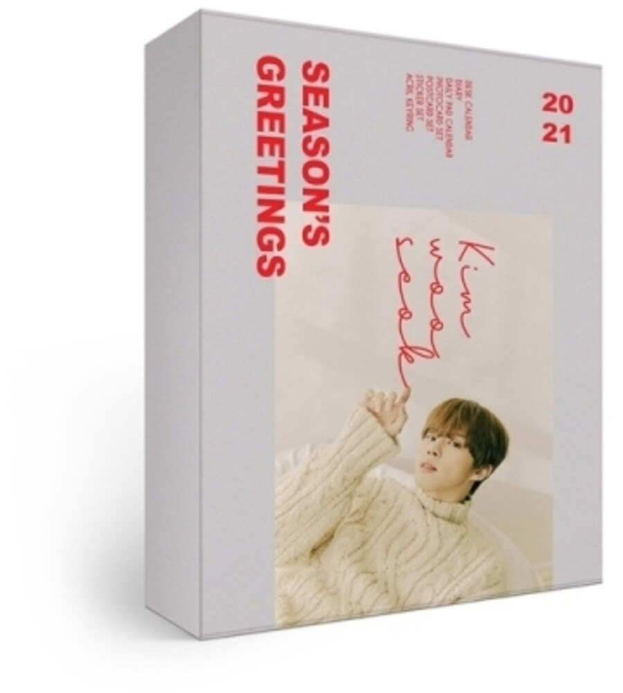 Kim Woo Seok - 2021 Season's Greetings (incl. 26pg Desk Calendar, 100pg Diary, 6pcPhotocard Set, 5pc Postcard Set, 2pc Sticker Set + Keyring)