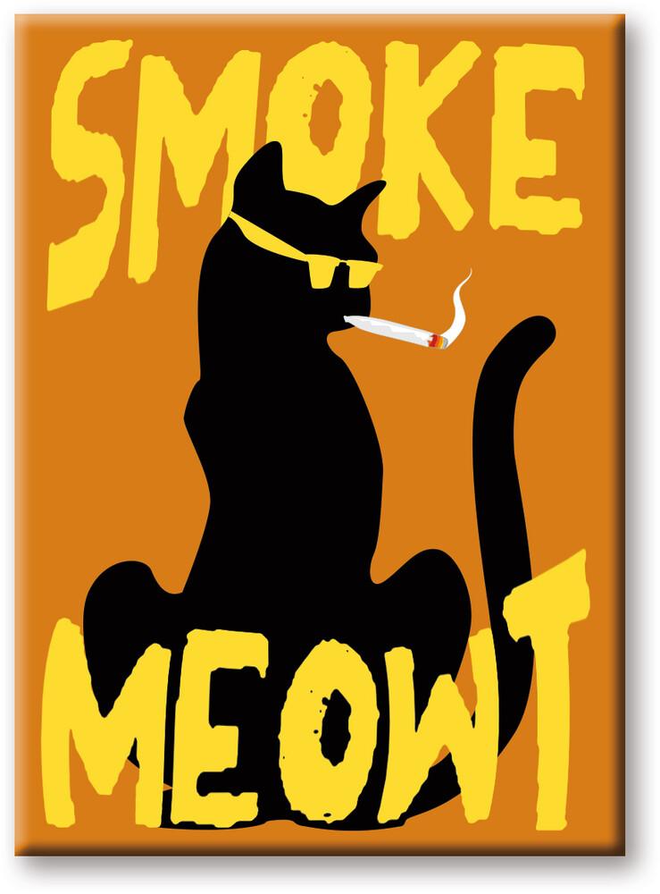 Weed Smoke Meowt 2.5 X 3.5 Flat Magnet - Weed Smoke Meowt 2.5 X 3.5 Flat Magnet
