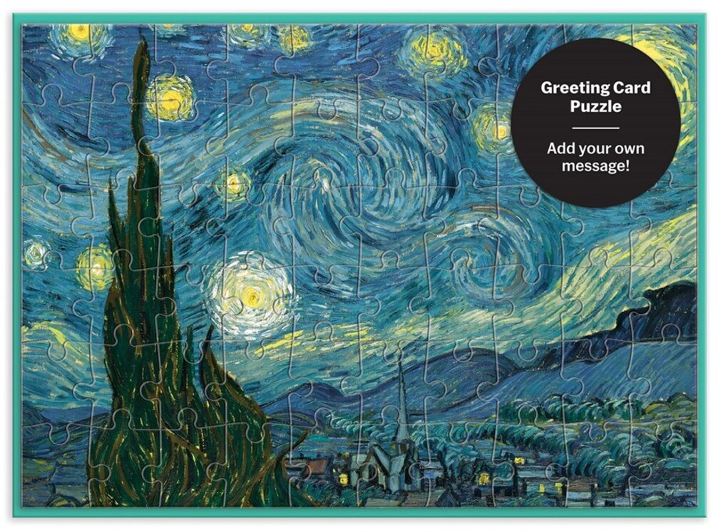 - MoMa Starry Night Greeting Card 60 Piece Puzzle
