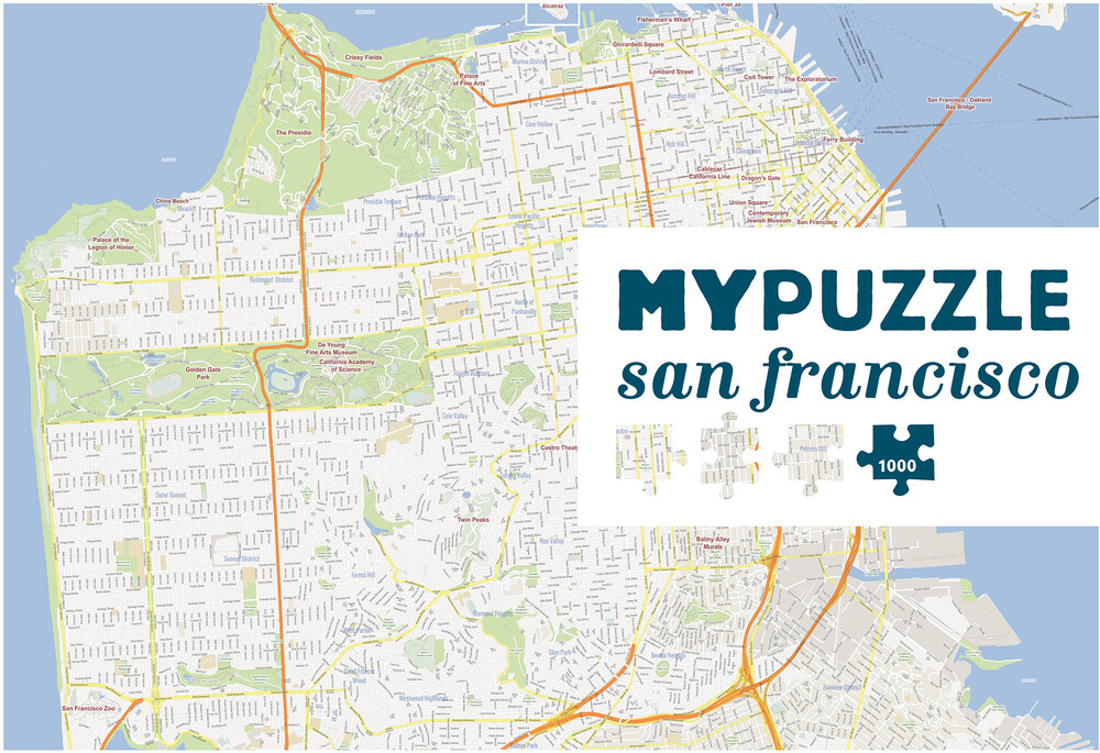 Mypuzzle San Francisco 1000 PC Jigsaw Puzzle - MYPUZZLE San Francisco 1000 Pc Jigsaw Puzzle