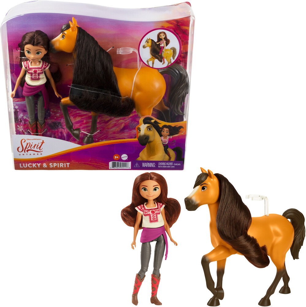 Spirit - Mattel - Spirit Doll & Horse Lucky and Spirit