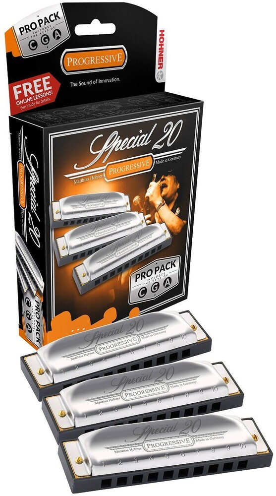 Hohner 3P560Pbx Special 20 Pro 3 Pack Harmonicas - Hohner 3P560PBX Special 20 Pro 3 Pack Harmonicas Includes Keys of G,A, & C