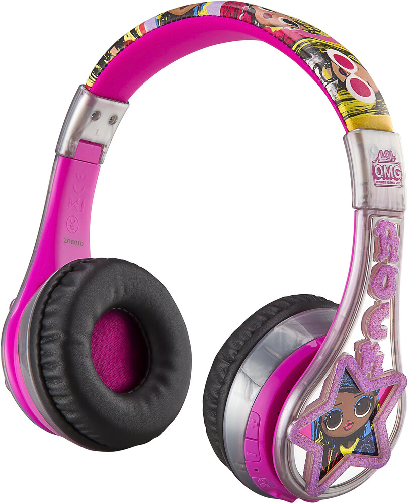 Lol Surprise Ll-B52.Exv0 Bt Hdphn Mic Silver/Pink - LOL Surprise LL-B52.EXV0 Bluetooth Wireless Headphones Foldable withMicrophone (Silver/Pink)