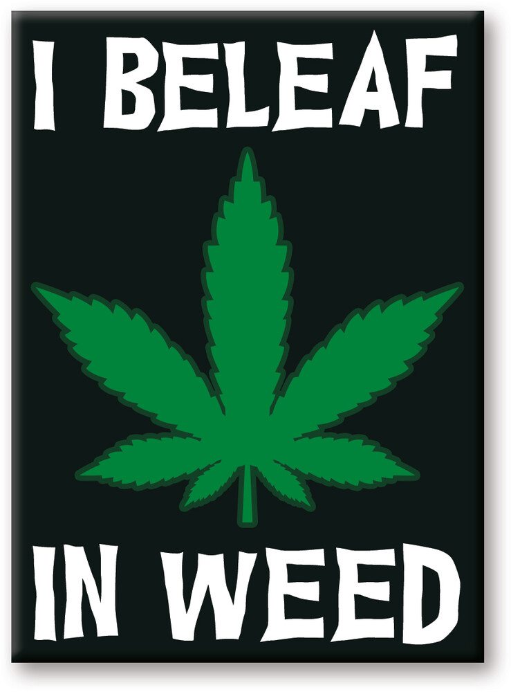 Weed I Beleaf 2.5 X 3.5 Flat Magnet - Weed I Beleaf 2.5 x 3.5 Flat Magnet