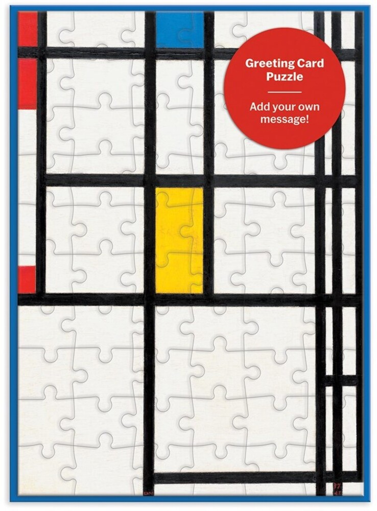 - MoMa Mondrian Greeting Card 60 Piece Puzzle