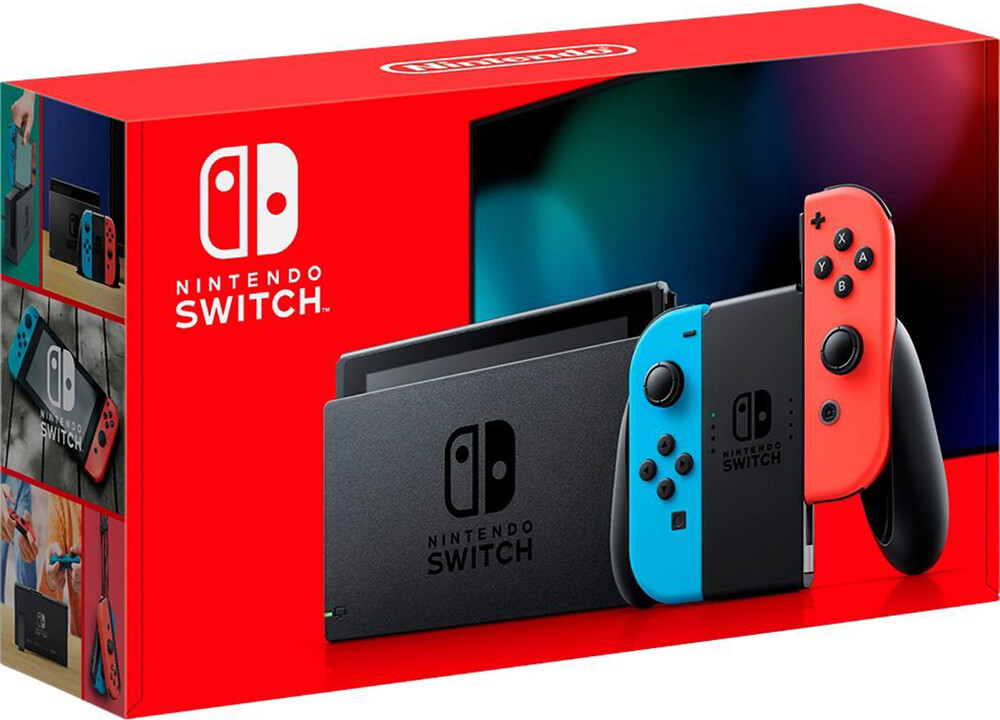 Swi System: Neon - 2019 - Nintendo Switch System with Neon Blue and Neon Red Joy-Con