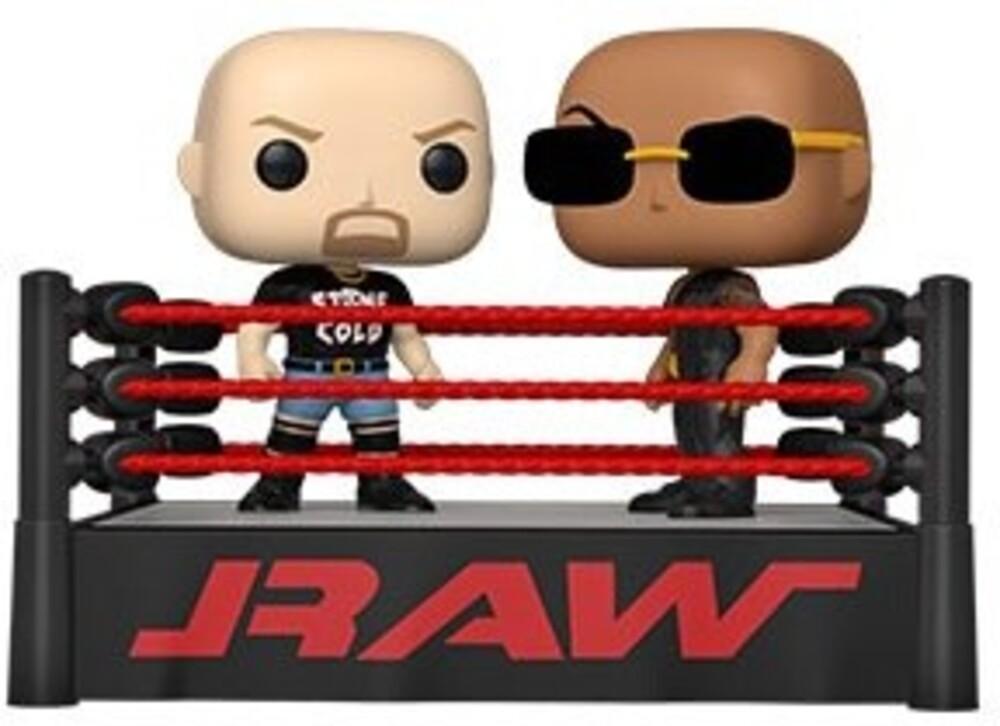 Funko Pop! Moment: - Wwe- The Rock Vs Stone Cold In Wrestling Ring