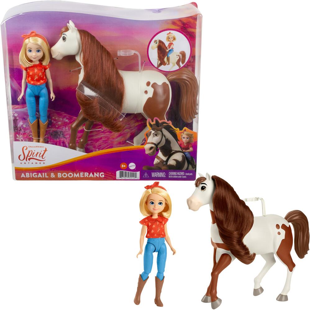 Spirit - Mattel - Spirit Doll & Horse Abigail and Boomerang