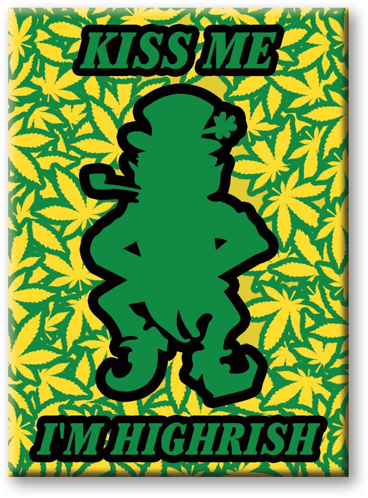 Weed Highrish 2.5 X 3.5 Flat Magnet - Weed Highrish 2.5 x 3.5 Flat Magnet