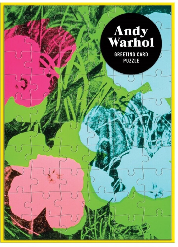 - Andy Warhol Flowers Greeting Card 60 Piece Puzzle