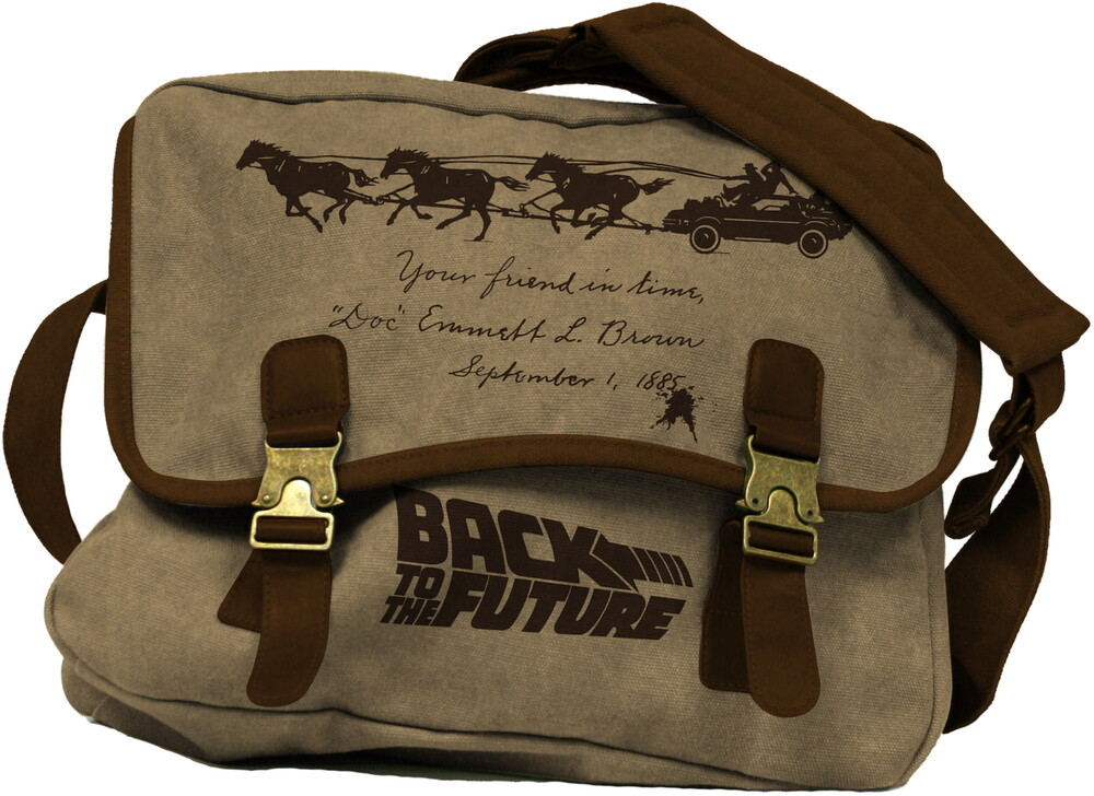 - Back To The Future Doc Brown Canvas Mailbag (Brwn)