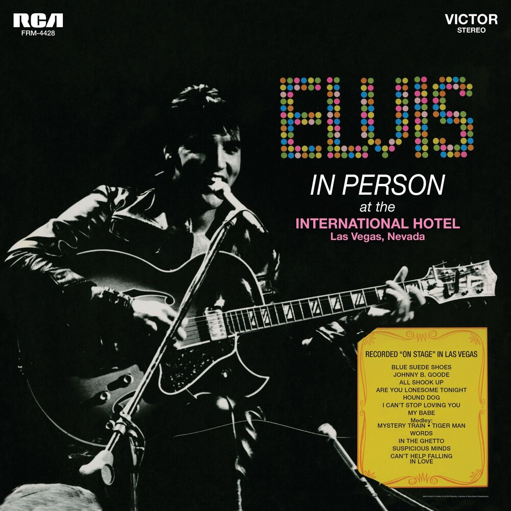 Elvis Presley - In Person At The International Hotel Las Vegas Nevada [Audiophile Translucent Gold & Blue Swirl LP]