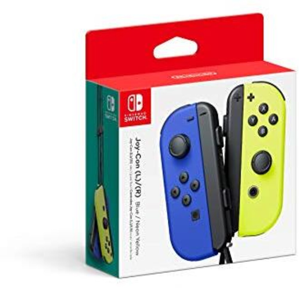 Swi Joy-Con (L-R) Blue/Neon Yellow - Nintendo Joy-Con (L)/(R) - Blue/Neon Yellow for Nintendo Switch