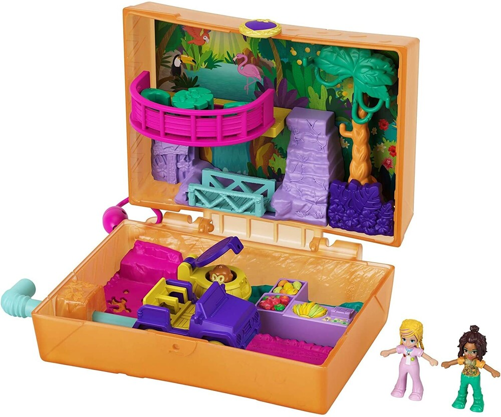 Polly Pocket - Mattel - Polly Pocket Jungle Safari Compact