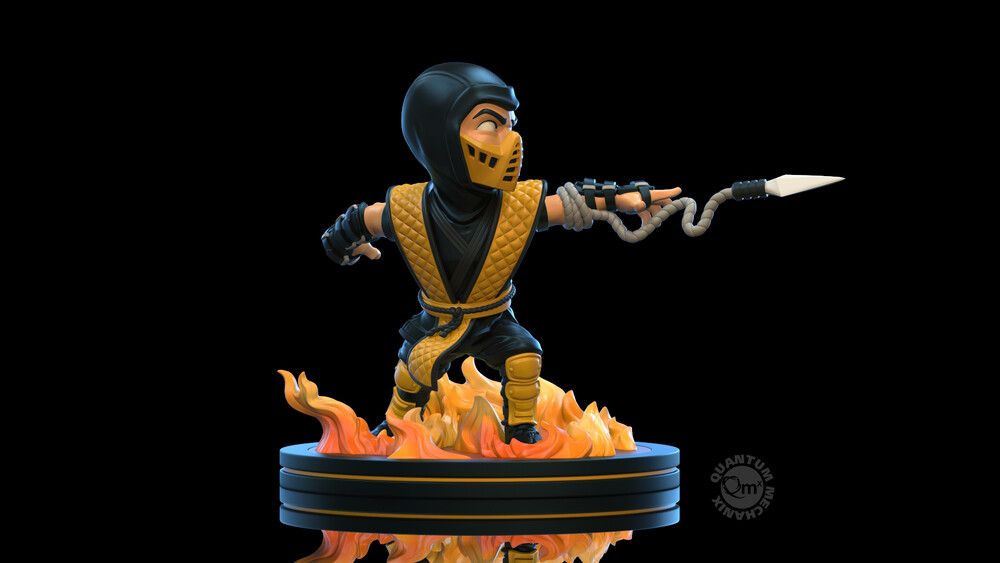 Mortal Kombat Scorpion Q-Fig - Quantum Mechanix QMx - Mortal Kombat Scorpion Q-Fig