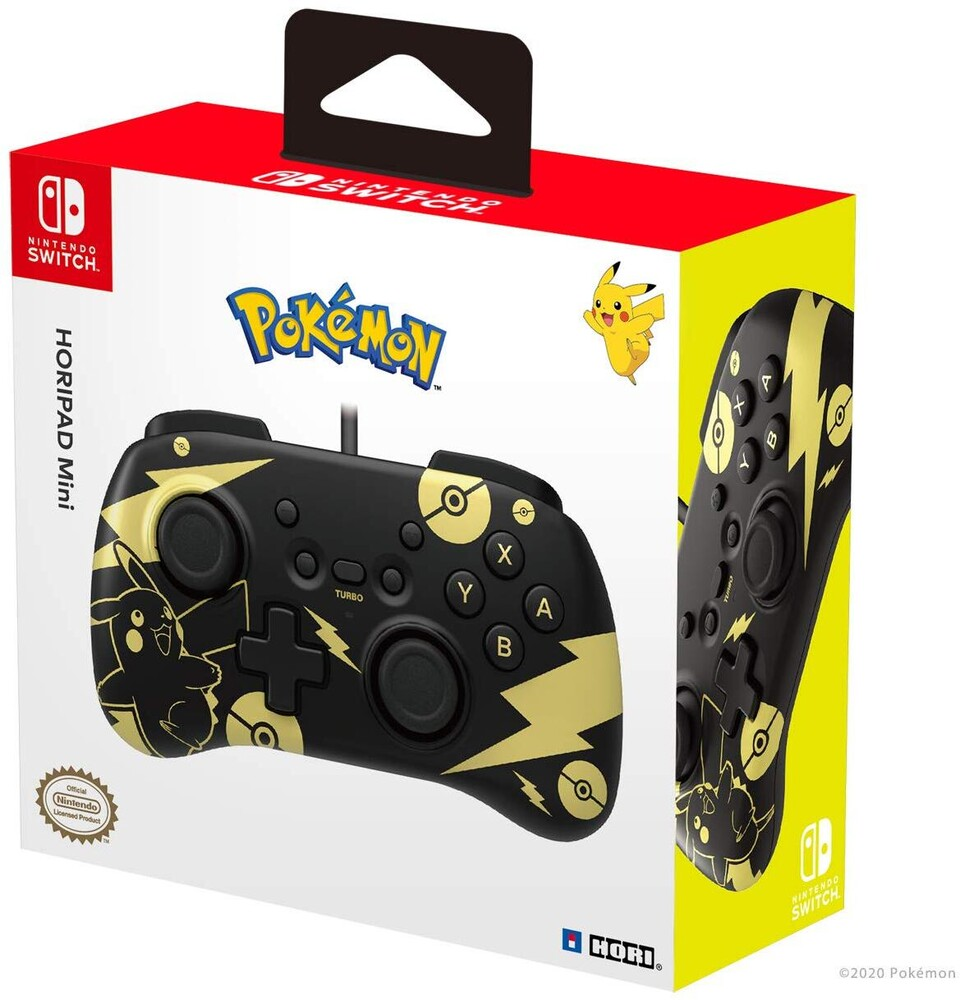 Hori Swi Horipad Mini - Pikachu Black & Gold - Nintendo Switch HORIPAD Mini (Black & Gold Pikachu Edition) by HORI