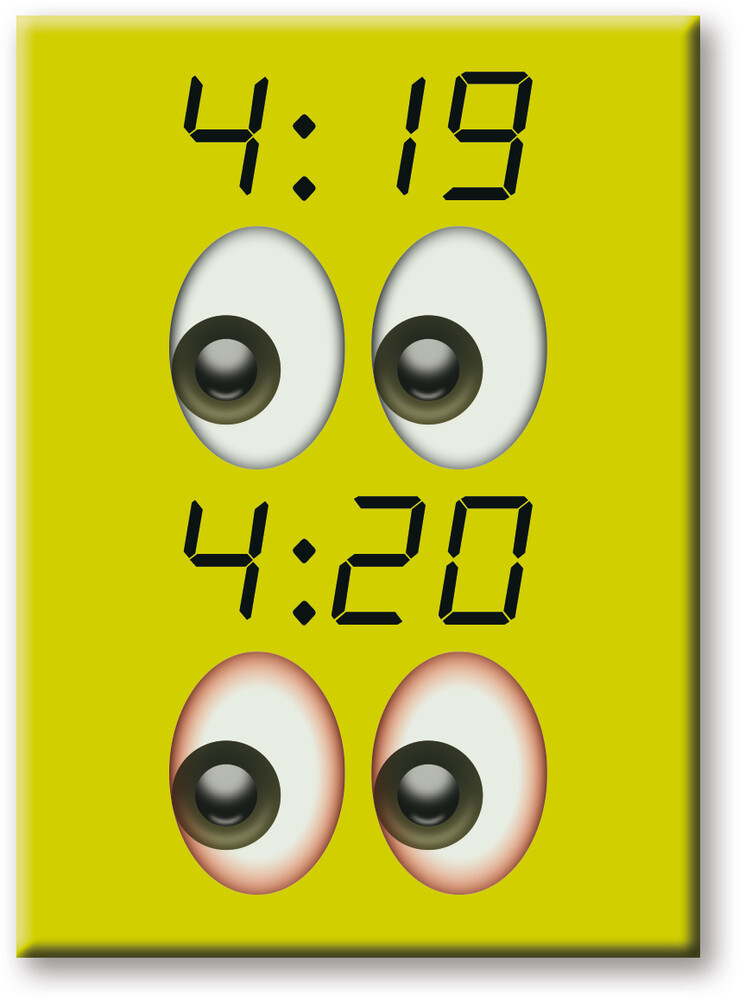 Weed 420 2.5 X 3.5 Flat Magnet - Weed 420 2.5 X 3.5 Flat Magnet