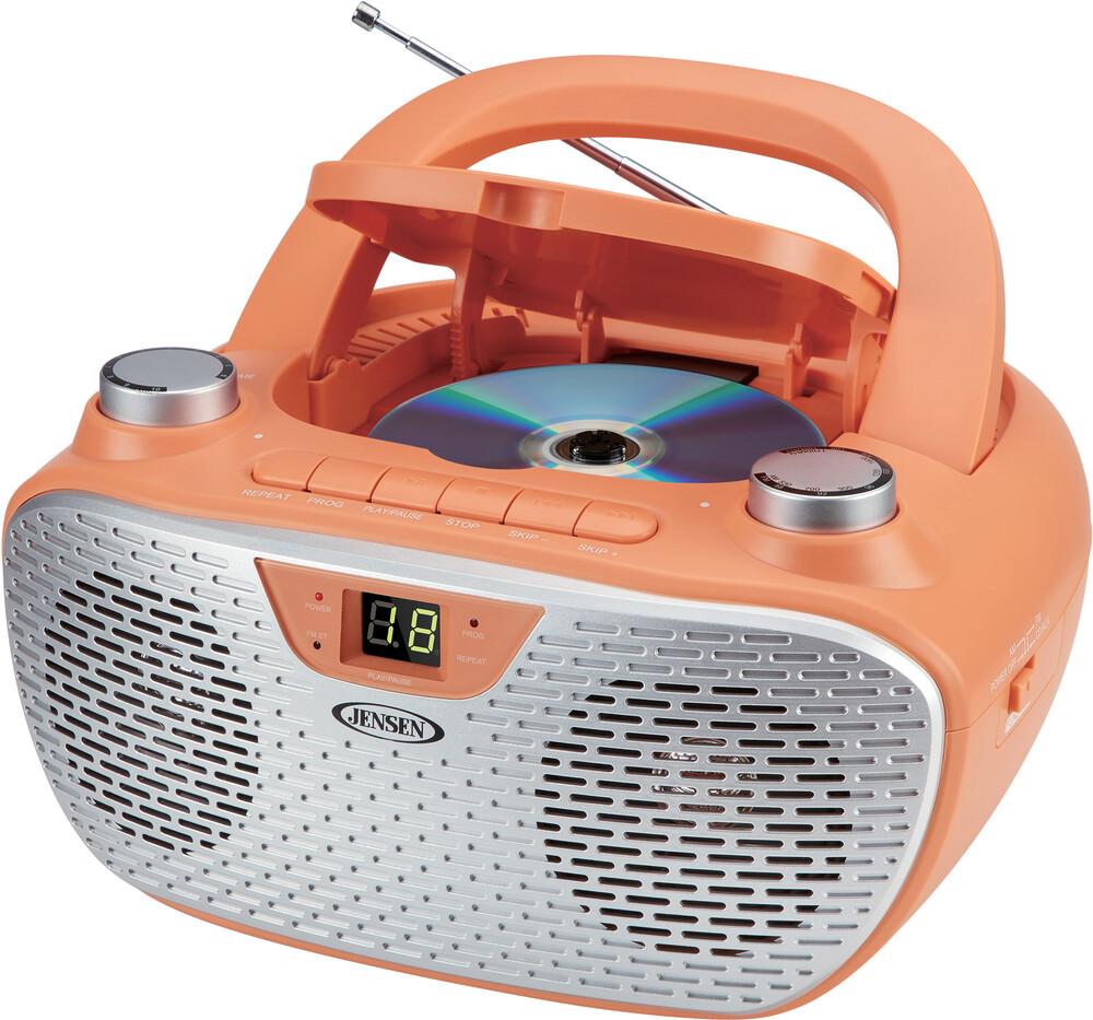 Jensen CD485Cl Bmbx CD Am/Fm Stereo Radio (Coral) - Jensen Cd485cl Bmbx Cd Am/Fm Stereo Radio (Coral)