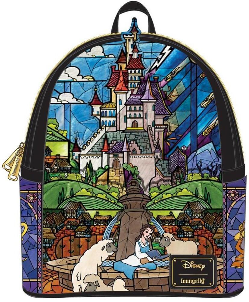 Loungefly Disney: - Princess Castle Series Belle Mini Backpack (Back)