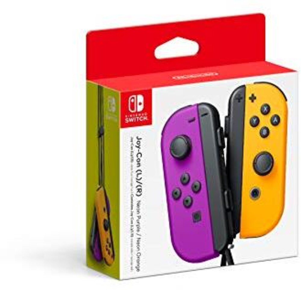 Swi Joy-Con (L-R) Neon Purple/Neon Orange - Nintendo Joy-Con (L)/(R) -Neon Purple/Neon Orange for Nintendo Switch
