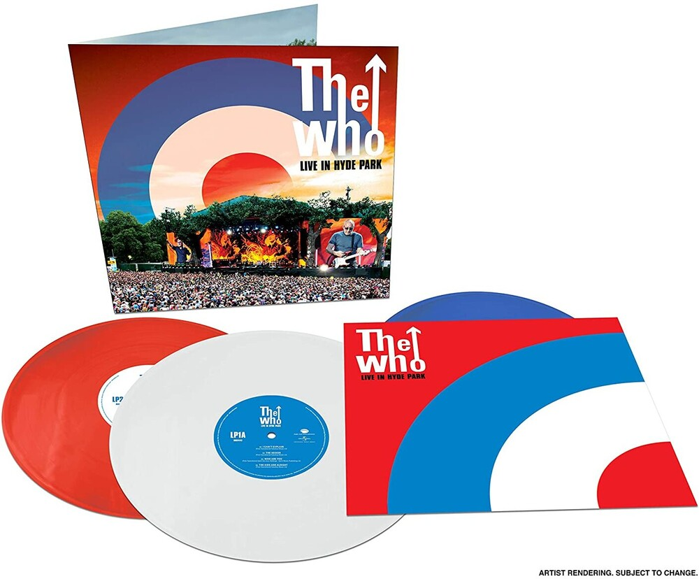 The Who - Live In Hyde Park (Blue) [Colored Vinyl] [Limited Edition] (Red) (Wht)