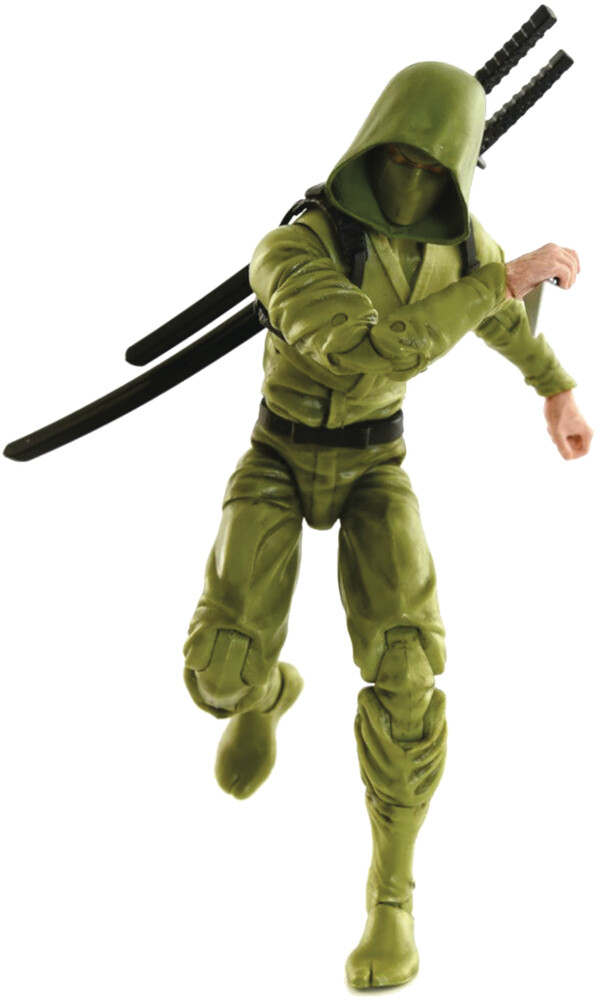 Fwoosh - FWOOSH - Articulated Icons Basic Ninja Green 6 Action Figure (Net)