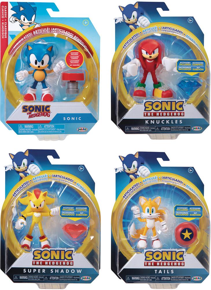 - Sonic The Hedgehog 4in Articulated Af Wv4 Asst (Ne