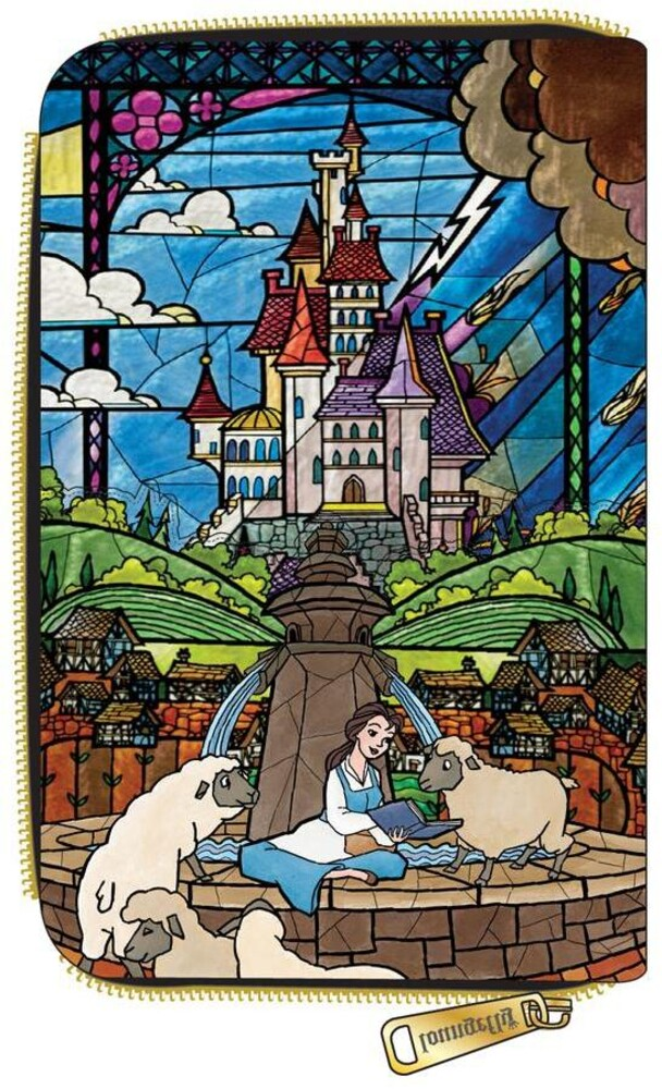 Loungefly Disney: - Princess Castle Series Belle Zip Around Wallet