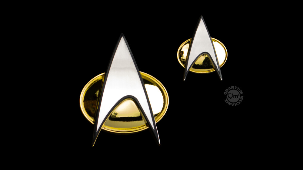 Star Trek Tng Badge and Pin Set - Quantum Mechanix QMx - Star Trek: The Next Generation Badge and Pin Set