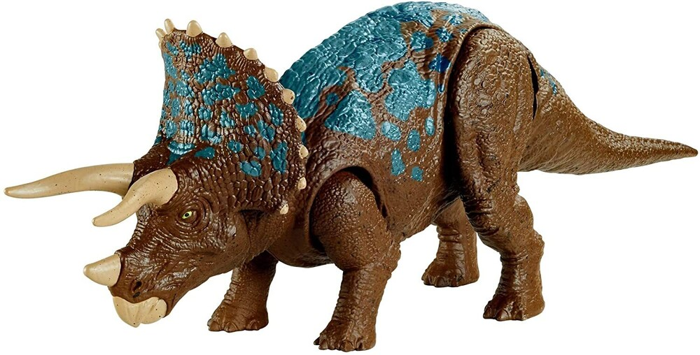 Jurassic World - Mattel - Jurassic World Sound Strike Triceratops, Animation
