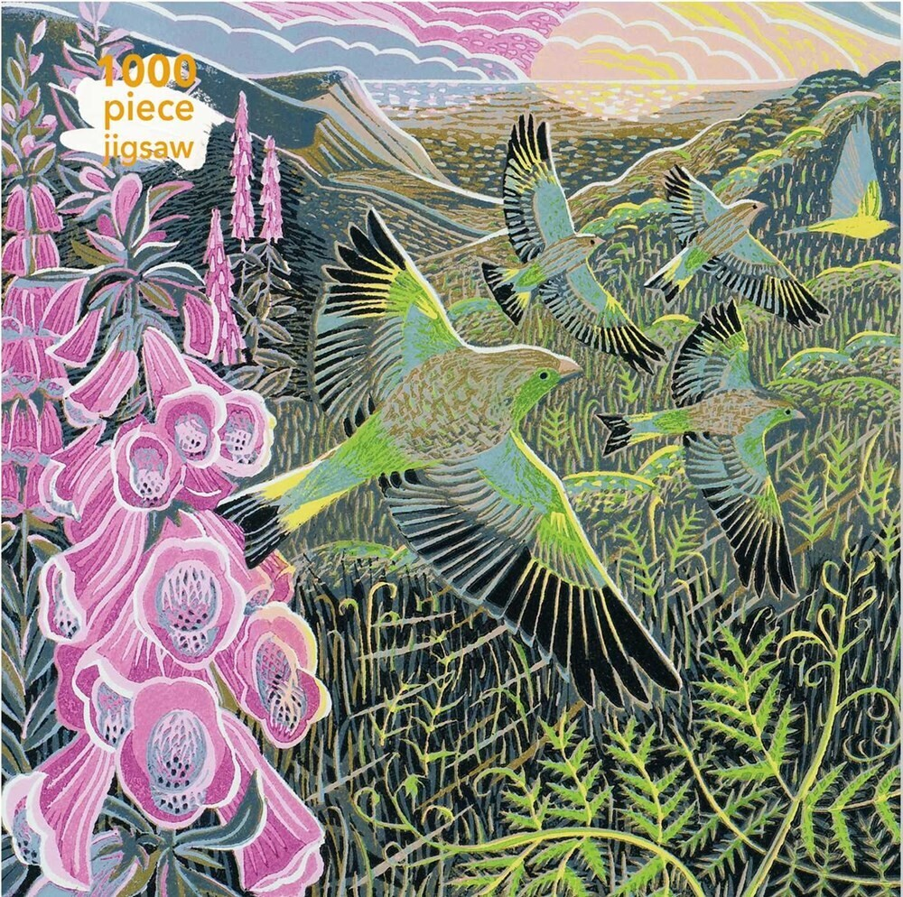 Flame Tree Studio - Adult Jigsaw Puzzle Annie Soudain: Foxgloves and Finches: 1000-pieceJigsaw Puzzle