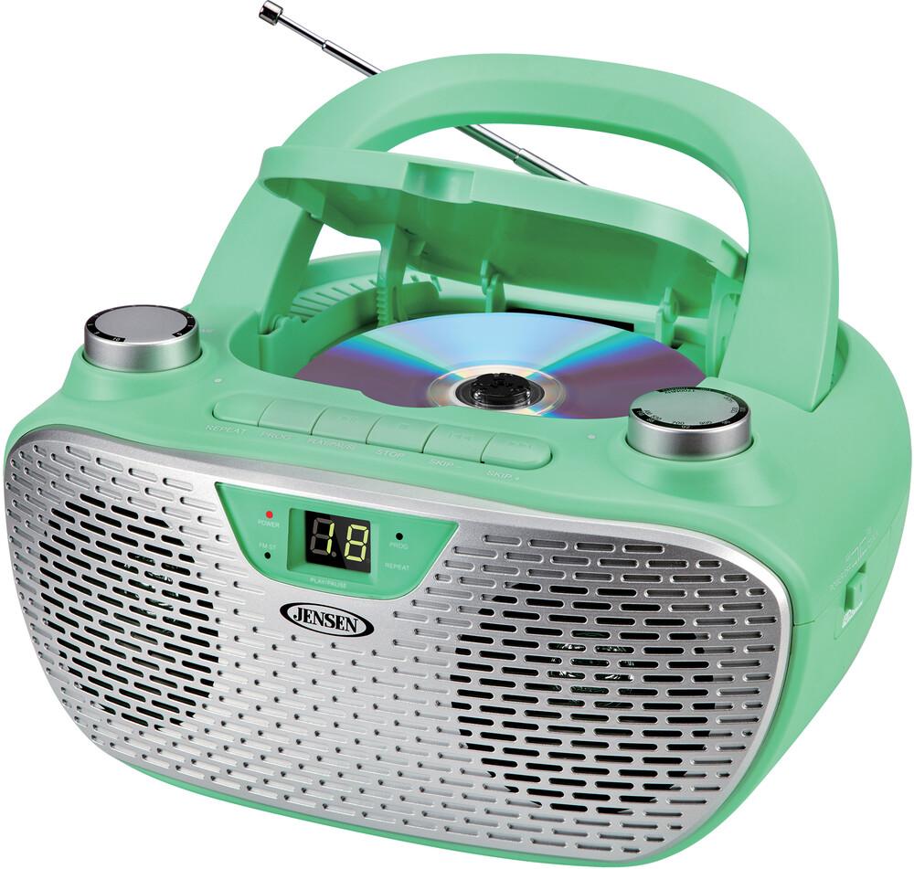 - Jensen Cd485gr Bmbx Cd Am/Fm Stereo Radio (Green)