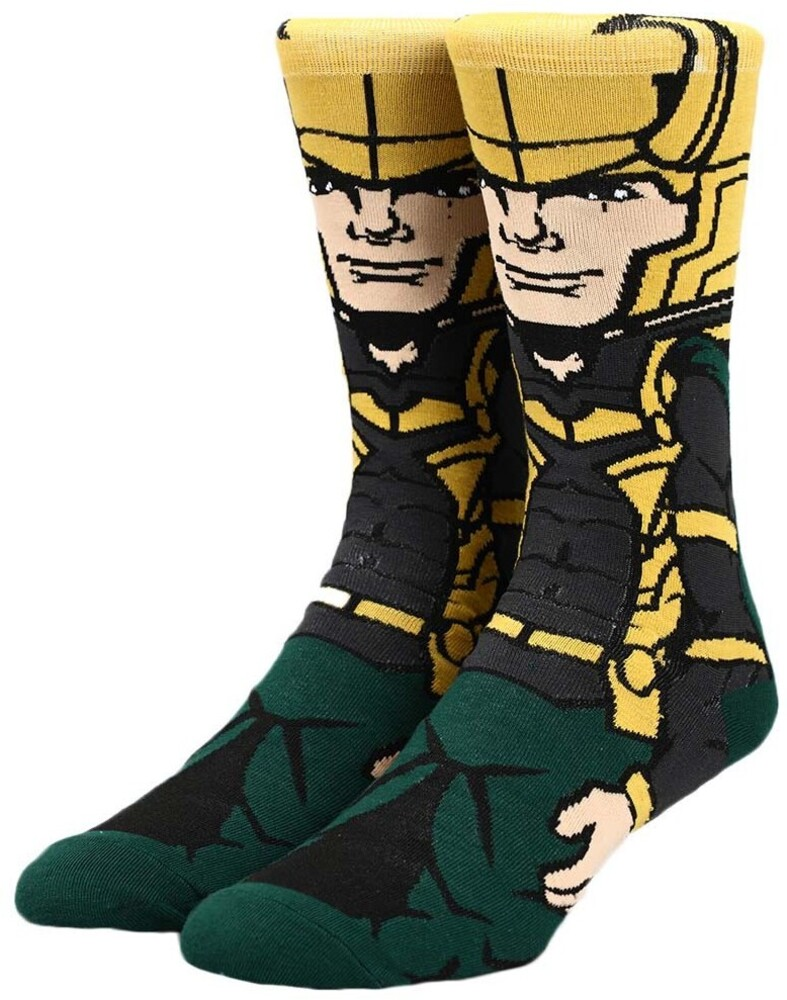 Marvel Loki Crew Socks 8-12 - Marvel Loki Crew Socks 8-12 (Mult) (Sock)