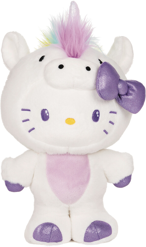 Spinmaster - Gund Hello Kitty Unicorn Stuffed Animal Cat 9.5in