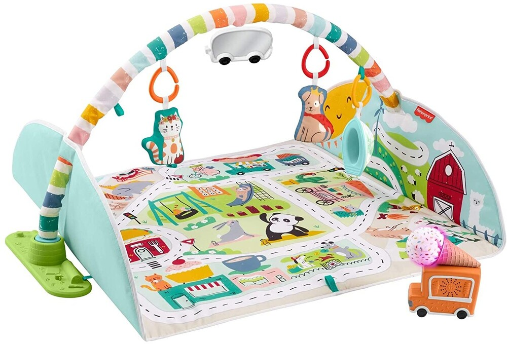 - Fisher Price - Joyful Journeys Activity Gym To Vehicle Mat