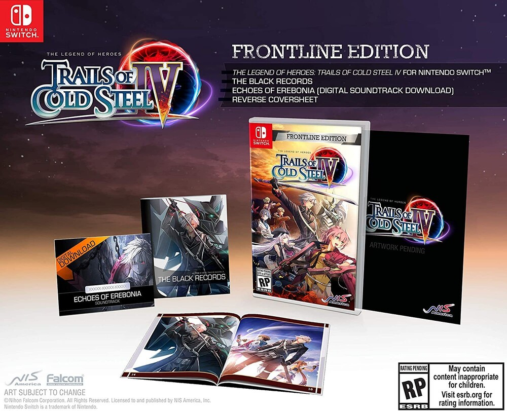 Swi Legend of Heroes Trails of Cold Steel IV Front - Legend of Heroes: Trails of Cold Steel IV Frontline Edition forNintendo Switch