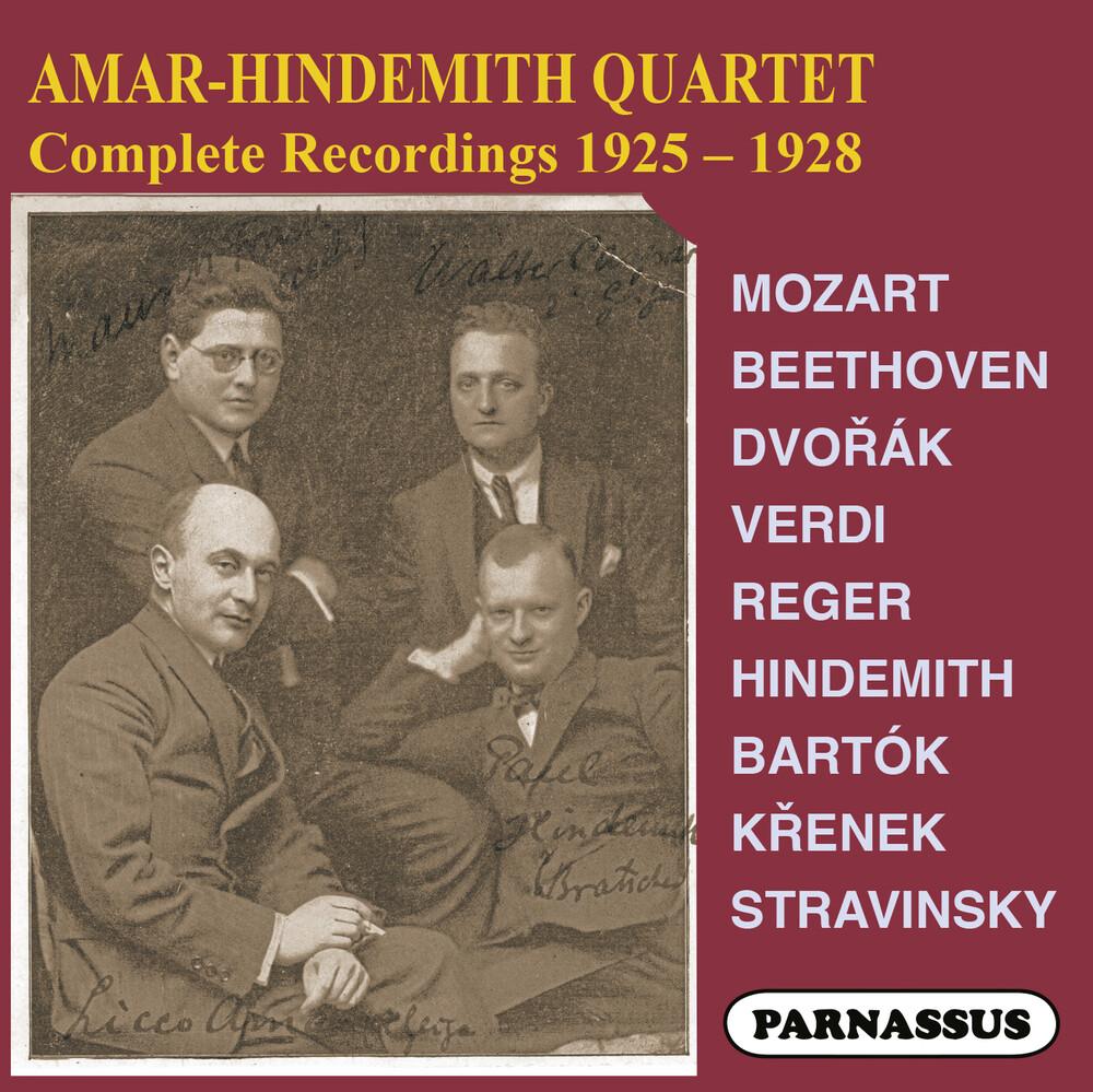 Amar Hindemith Quartet - Amar-Hindemith Quartet Complete Recordings 1925-8