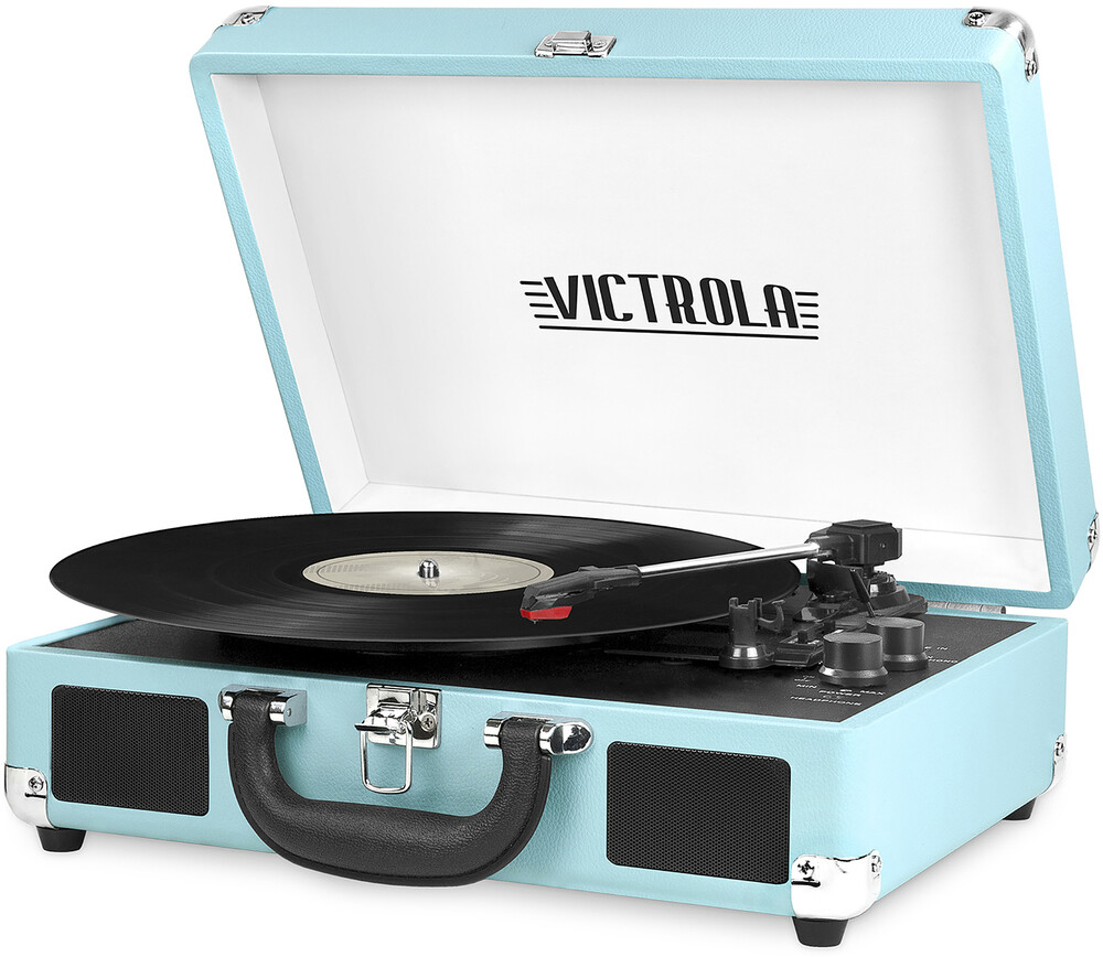 - Victrola VSC-550BT-TQ Bluetooth Suitcase Turntable 3 Speed (Turquoise)