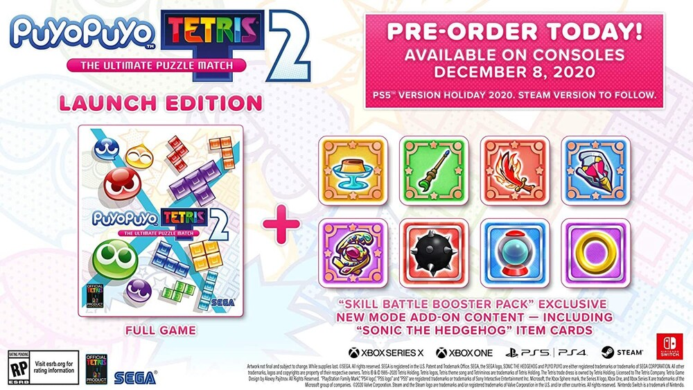 Ps5 Puyo Puyo Tetris 2 - Puyo Puyo Tetris 2 for PlayStation 5