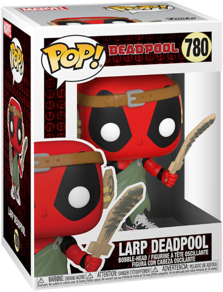 - FUNKO POP! MARVEL: Deadpool 30th- LARP Nerd Deadpool