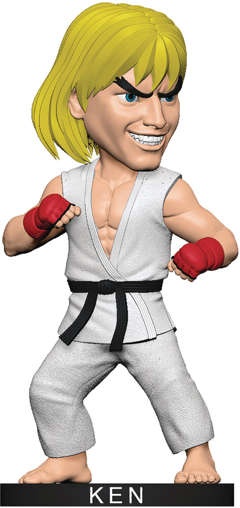 Icon Heroes - Icon Heroes - Street Fighter Ken White Gi Polystone Bobblehead