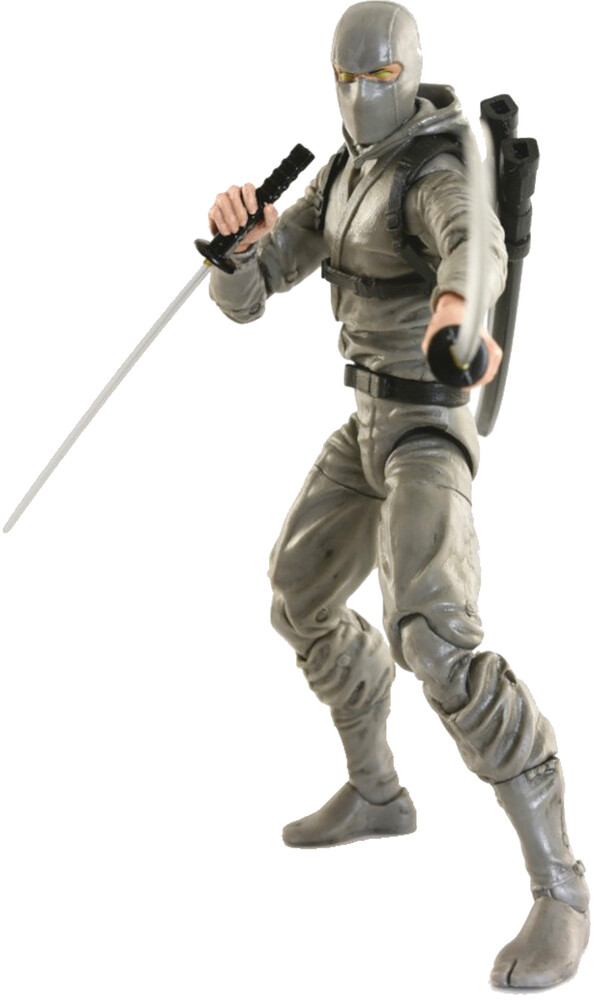 Fwoosh - FWOOSH - Articulated Icons Basic Ninja Grey 6 Action Figure (Net)