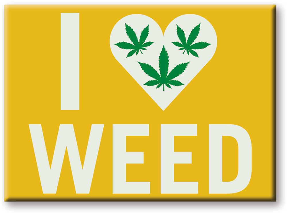 Weed I Heart Weed 2.5 X 3.5 Flat Magnet - Weed I Heart Weed 2.5 X 3.5 Flat Magnet