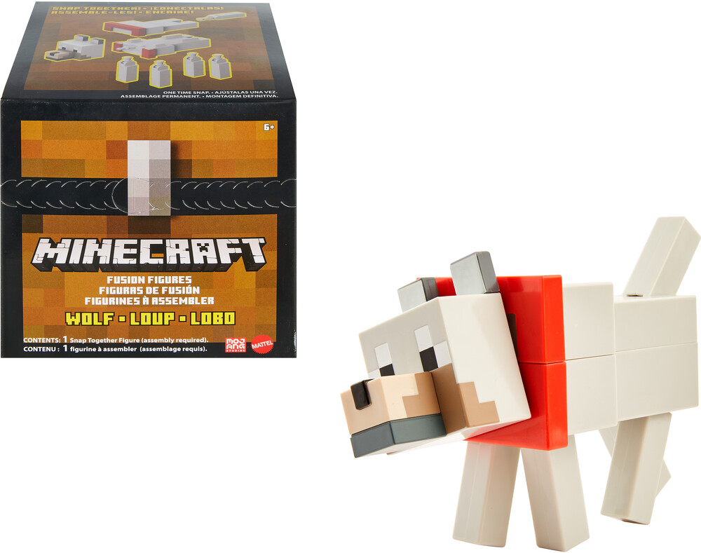 - Mattel Collectible - Minecraft Wolf