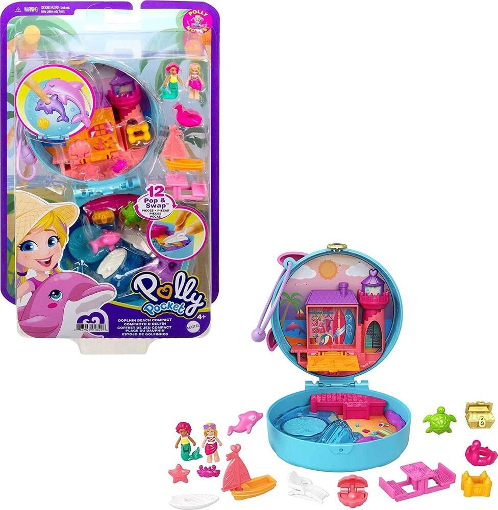 - Mattel - Polly Pocket Big Pocket World Dolphin Beach