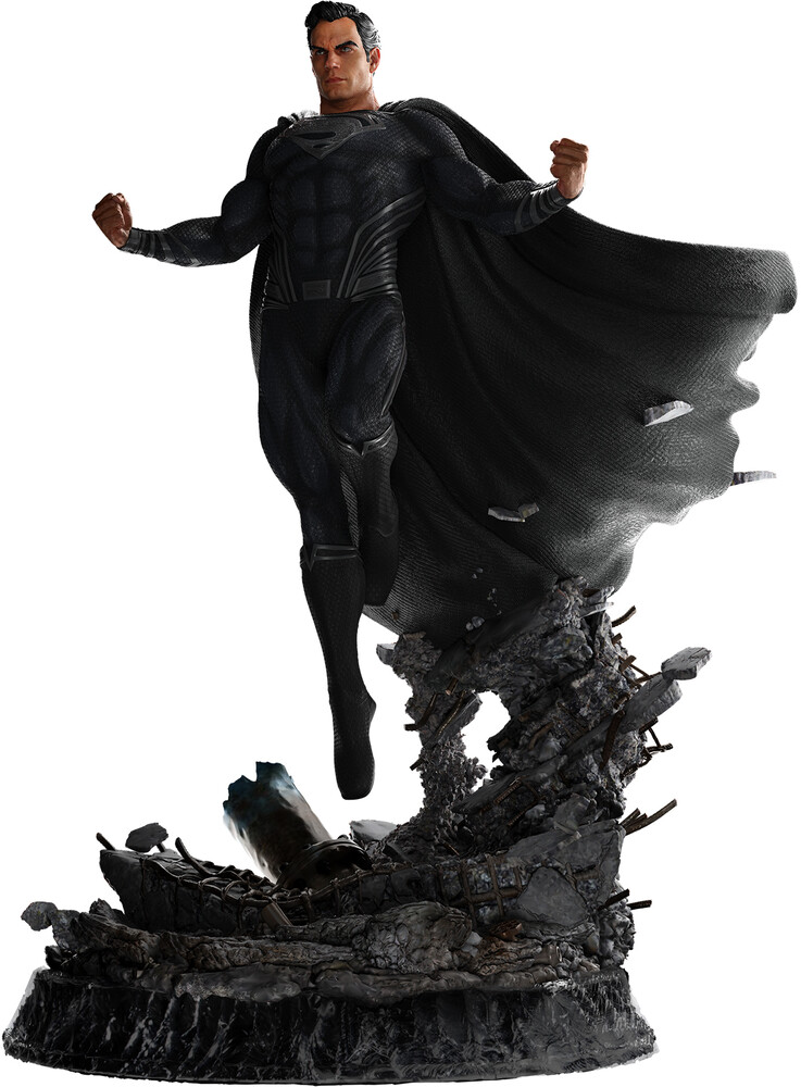 - Jl Superman - Black Suit - 1:4 Scale Statue (Clcb)