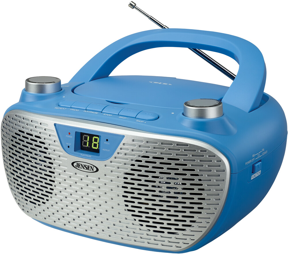 - Jensen Cd485bl Bmbx Cd Am/Fm Stereo Radio (Blue)