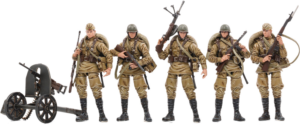 - Joy Toy Wwii Soviet Infantry 1/18 Figure 5pk (Net)