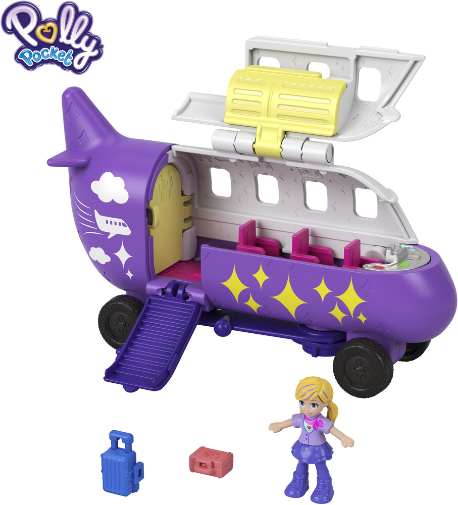 Polly Pocket - Mattel - Polly Pocket Pollyville Airplane
